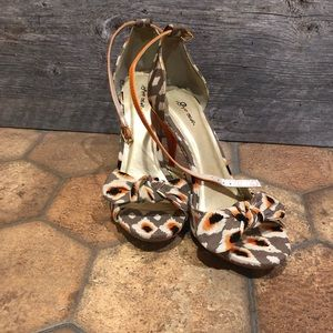 Boutique ikat printed heels